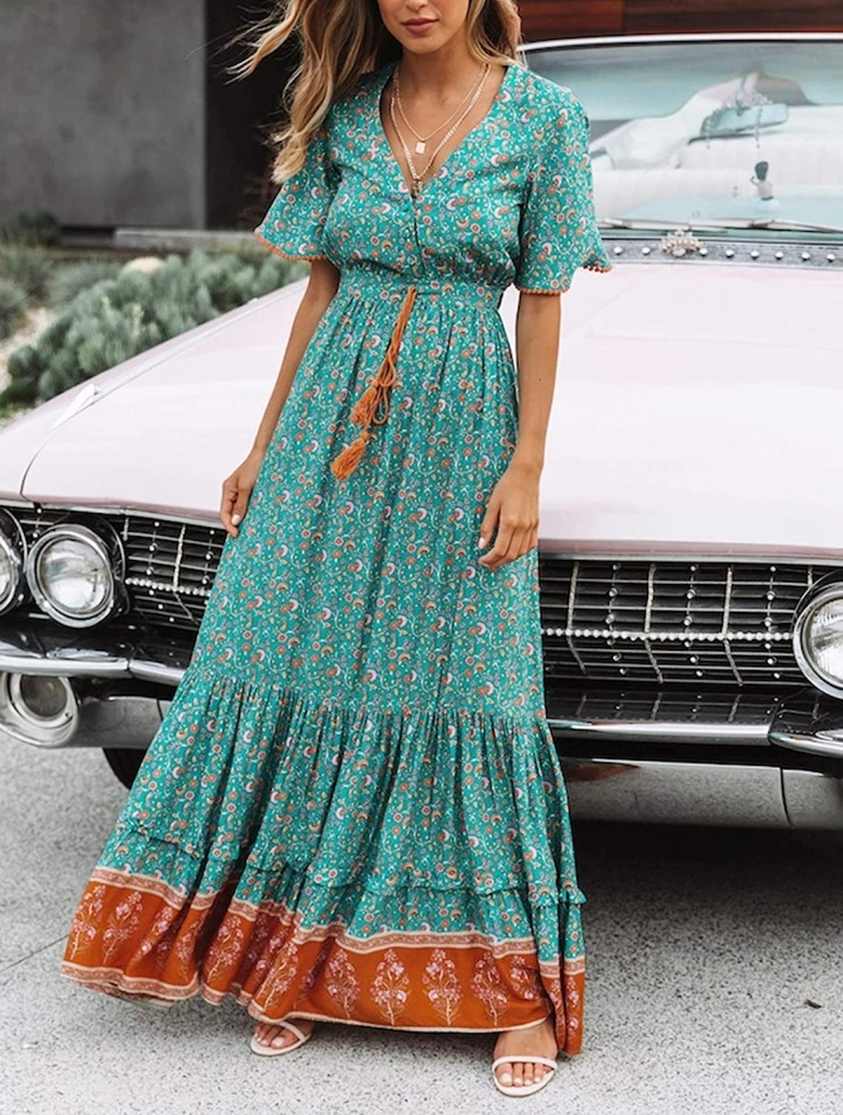what to wear in dubai maxi dress floral